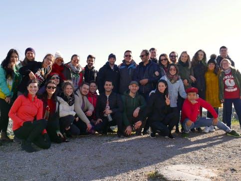 Das Team bei einer Wanderung